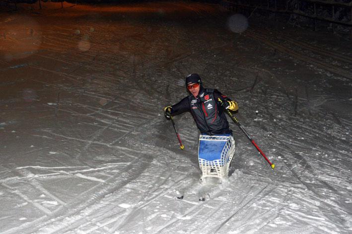 Individuelle skischlitten für besondere athleten