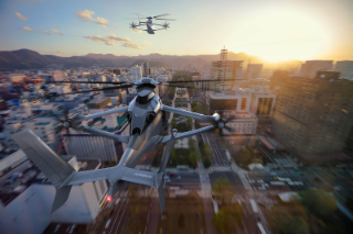 The sustainably produced helicopter is designed to travel at speeds of over 400 kilometers per hour.